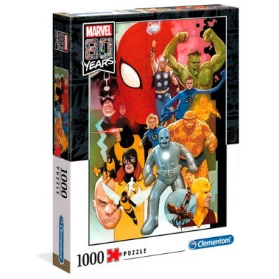 Puzzle Marvel 80 Years 1000 Peças Clementoni