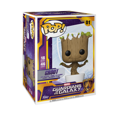 "* PRÉ-RESERVA * Funko POP! Marvel Guardians Of The Galaxy Groot 18"" Super Sized #01 (Quantidade Limitada)"
