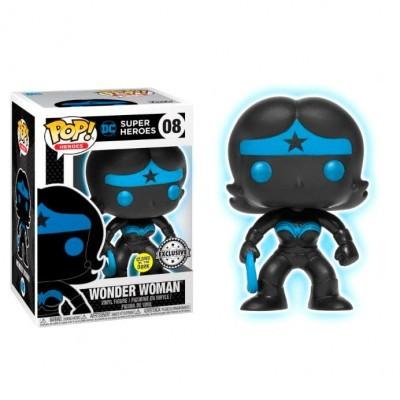 Funko POP! DC Super Heroes Wonder Woman Silhouette #08 GITD Exclusive