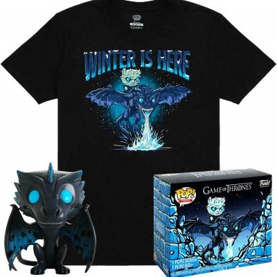 Funko POP! Tees Game Of Thrones Icy Viserion Glows In The Dark