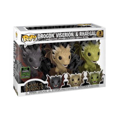 Funko POP! Game Of Thrones Drogon, Viserion & Rhaegal 3Pack ECCC2020 Exclusive