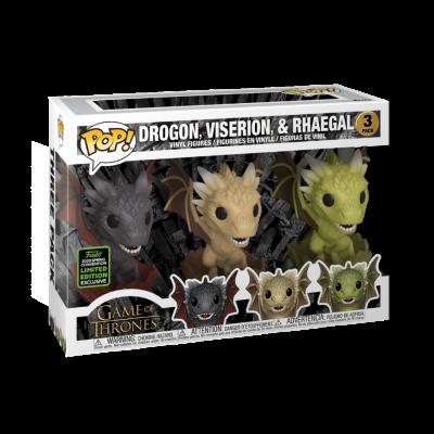 Funko POP! Game Of Thrones Drogon, Viserion & Rhaegal 3Pack ECCC2020 Exclusive