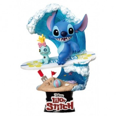 Figura Diorama Stitch Surf Disney 15 cm Beast Kingdom