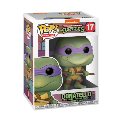 * PRÉ-RESERVA * Funko POP! Retro Toys Teenage Mutant Ninja Turtles Donatello #17