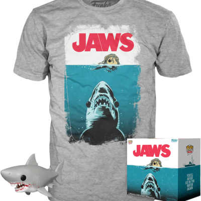 Funko POP! Tees Jaws Box Bloody Great White Shark