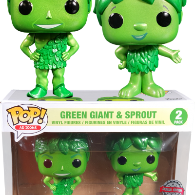 Funko! Pop Green Giant & Sprout Metallic Special Edition 2 Pack