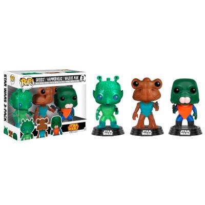 Funko! Pop Star Wars Greedo / Hammerhead / Walrus Man 3 Pack