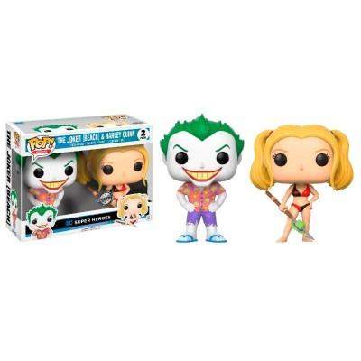 Funko POP! DC Beach Joker & Harley Exclusive #2Pack