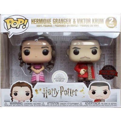 Funko POP! Harry Potter Hermione Granger & Viktor Krum Yule Ball 2Pack Special Edition
