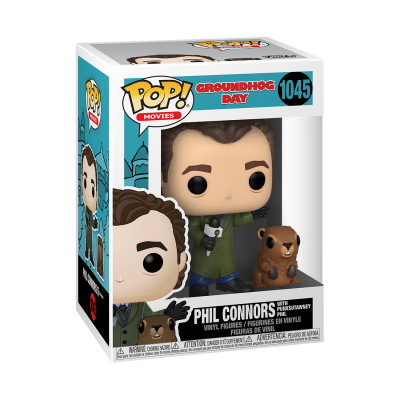 * PRÉ-RESERVA * Funko POP! Movies Groundhog Day Phil Connors With Punxsutawney Phil #1045