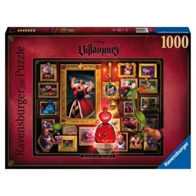 Puzzle Disney Villainous Queen Of Hearts 1000 Peças Ravensburger