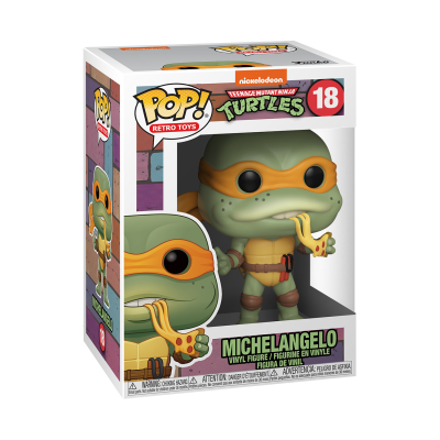 * PRÉ-RESERVA * Funko POP! Retro Toys Teenage Mutant Ninja Turtles Michelangelo #18