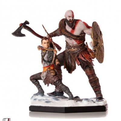God of War Deluxe Art Scale Statue 1/10 Kratos & Atreus 20 cm Iron Studios
