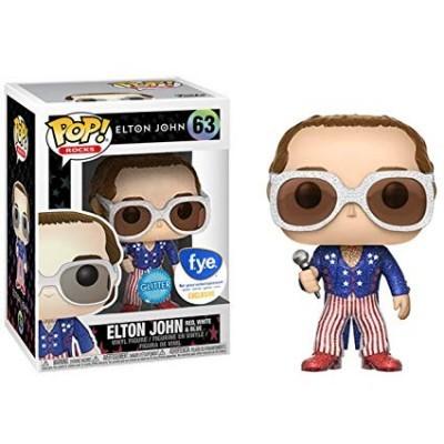 Funko! Pop Rocks Elton John Red, White & Blue Glitter Exclusive #63