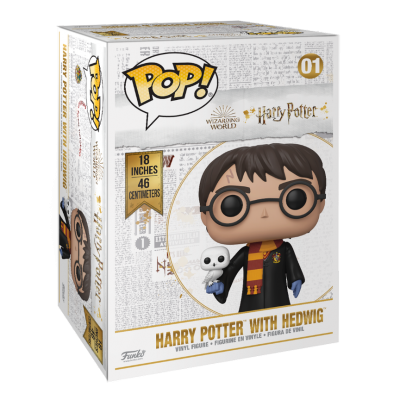 "Funko POP! Harry Potter With Hedwig 18"" Super Sized #01"