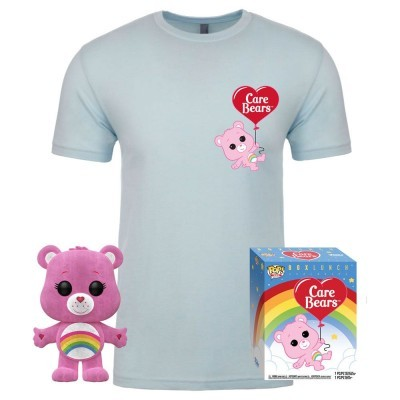 Funko POP! Tees Care Bears Box Cheer Bear Flocked