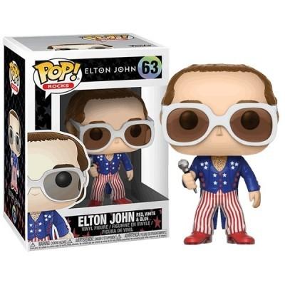 Funko! Pop Rocks Elton John Red, White & Blue #63