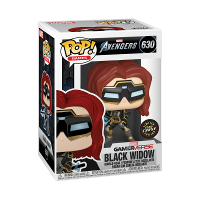 Funko! Pop Games Marvel Avengers GamerVerse Black Widow #630 CHASE