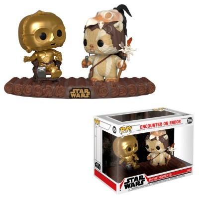 Funko! Pop Star Wars Movie Moment Encounter on Endor C-3PO on Throne