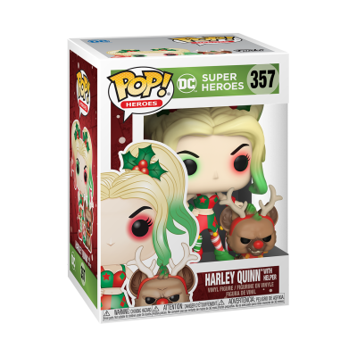 Funko POP! Holiday DC Super Heroes Harley Quinn With Helper #357