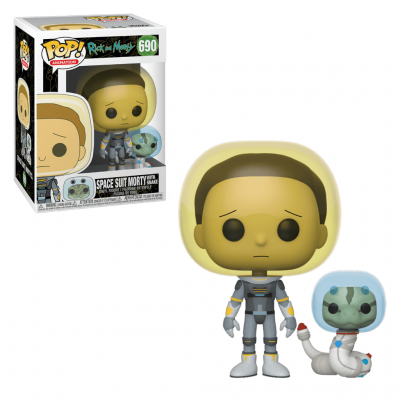Funko POP! Rick & Morty Space Suit Morty With Snake #690