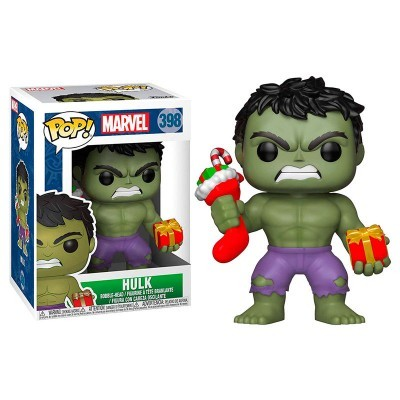 Funko! Pop Marvel Holiday Hulk with Stocking & Plush