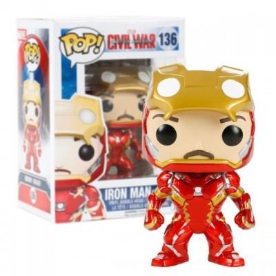 Funko! Pop Captain America Civil War Iron Man Unmasked Exclusive