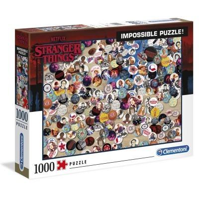Puzzle Stranger Things (Impossible Puzzle!) 1000 Peças Clementoni