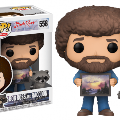 Funko! Pop Television Bob Ross The Joy Of Painting Bob Ross And Raccoon #558