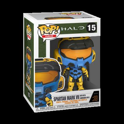 Funko POP! Games HALO Infinite Spartan Mark VII With VK78 Commando Rifle #15 (Funko Deco)