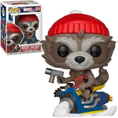 Funko! Pop Marvel Holiday Rocket (Holiday)