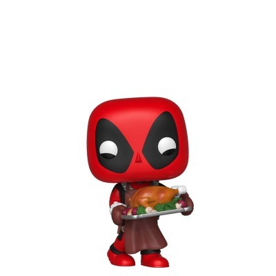 Funko! Pop Marvel Holiday Deadpool with Turkey (Holiday)