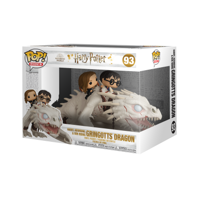 * PRÉ-RESERVA * Funko POP! Rides Harry, Hermione & Ron Riding Gringotts Dragon #93