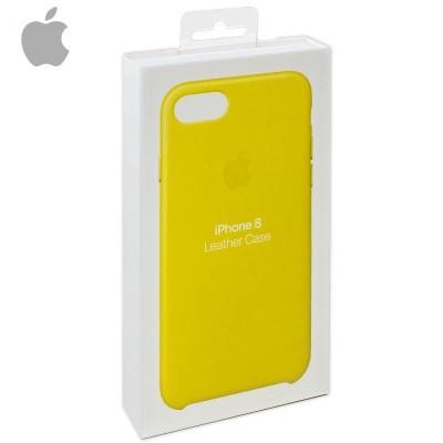 Capa Apple iPhone 7/8 Leather - Amarelo