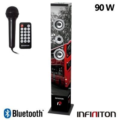 Coluna Torre Música Bluetooth (90W) + Karaoke Infiniton ST92 London