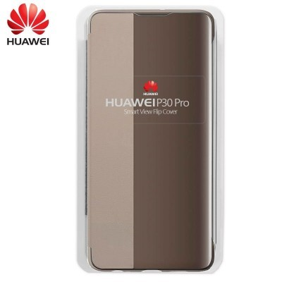 Capa Huawei Flip Cover para P30 Pro - Castanho