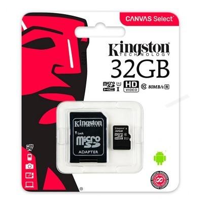Cartão de memória Micro SD com adaptador 32 GB Kingston