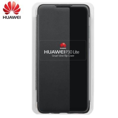 Capa Huawei Flip Cover para P30 Lite - Preto