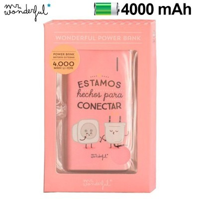 Power Bank Micro-usb 4000 mAh Mr Wonderful Rosa
