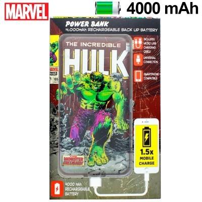 Power Bank Micro-usb 4000 mAh Marvel Hulk