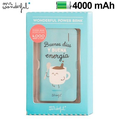Power Bank Micro-usb 4000 mAh Mr Wonderful Azul