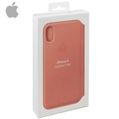 Capa Apple iPhone X/Xs Folio Leather - Rosa