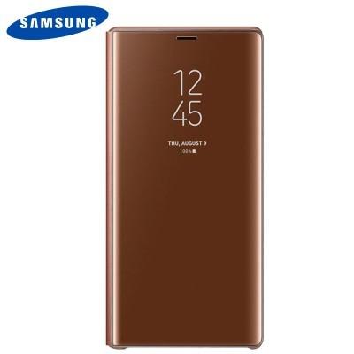 Capa Original Samsung Galaxy Note 9 Clear View - Castanho