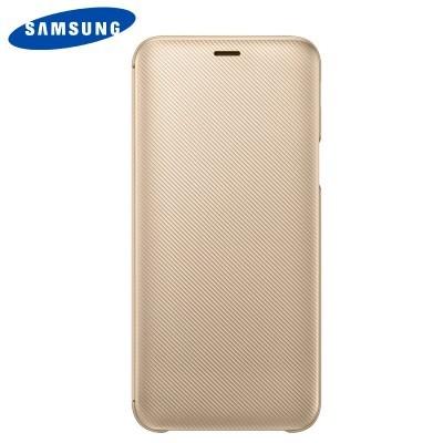 Capa Original Samsung Galaxy J6 2018 Wallet Cover - Dourado