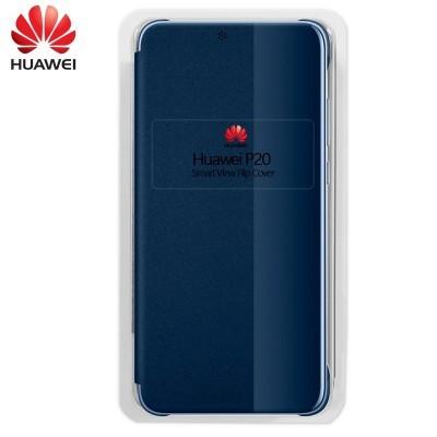 Capa Huawei Flip View para P20 - Azul