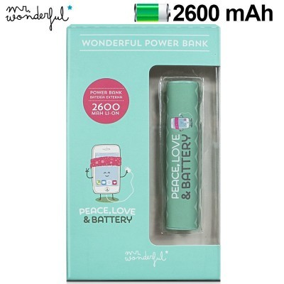 Power Bank Micro-usb 2600 mAh Mr Wonderful Verde