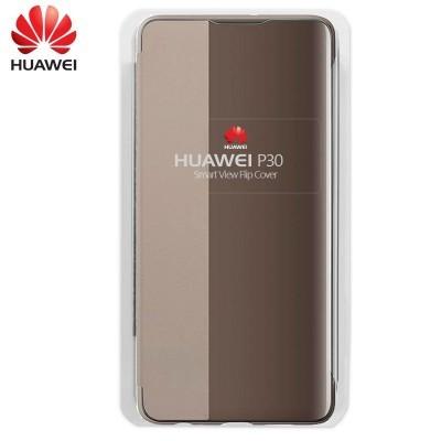 Capa Huawei Flip Cover para P30 - Castanho