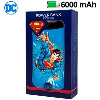 Power Bank Micro-usb 6000 mAh DC Superman