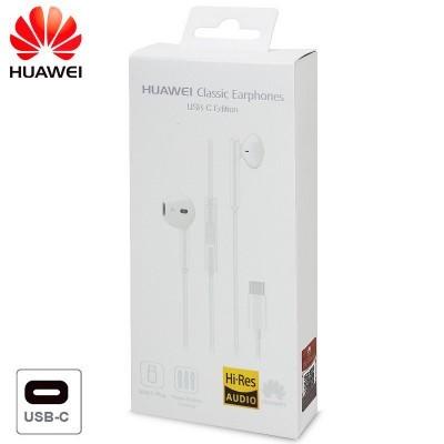 Auriculares com fios Original Huawei (Tipo- C) - Branco