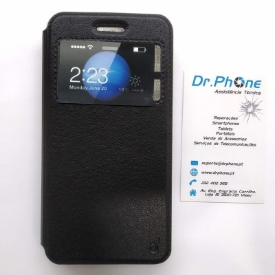 Capa livro Huawei P8 Lite Smart - Preto